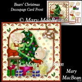 Bears' Christmas - Decoupage Card Front
