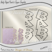 Baby Edged Card & Topper Template