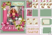 Christmas Card Kit with inserts and envelope