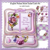 English Roses Book Easel Card Kit