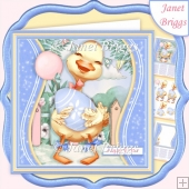 EASTER DUCKLING 7.5 Decoupage & Insert Card Kit
