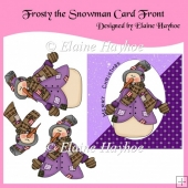 Frosty the Snowman Decoupage Card Front