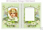 All Occasion Vintage Child Insert / Topper