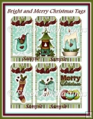 Bright and Merry Christmas Tag Set