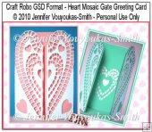 Craft Robo GSD File - Heart Mosaic Gate Card