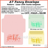 A7 Fancy Envelope - Pattern - Lover with Castle template