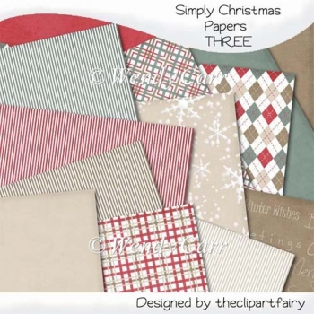 Simply Christmas Papers 3(Retiring in August)