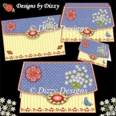 Blooms & Butterfly Clutch Bag Card with freebie Gift Box
