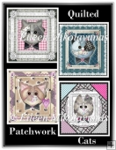Quilted Patchwork Cats Set