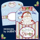 Dear Santa Tag Shaped Card