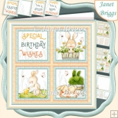 SPRING SQUARES 7.5 Quick Layer Card & Insert Kit All Occasions