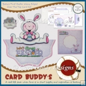 Baby's First Easter Wavy Edged Over The Top Card Kit