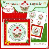 Christmas Cupcake - Card Front