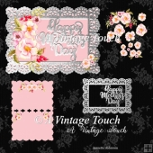 Digital cutting file Mothers Day card with mat & Rose decoupage