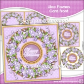 Lilac Flowers Card Front