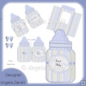 A BABY BOY BOTTLE CARD