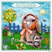 Bunnys Garden - Designer Resource Clipart Kit For Cards & Scrap