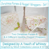 Christmas Purses & Nugget Wrappers - Set 1