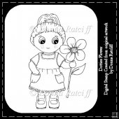 Dotties Flower - Digital Stamp