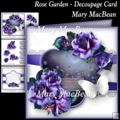 Rose Garden - Decoupage Card
