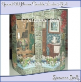 Grand Old House Double Window Card