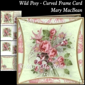 Wild Posy - Curved Frame Card