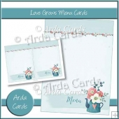 Love Grows Menu Cards