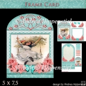 Wonderful Floral Frame Card Girl 1