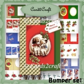 Set of bumper Christmas quick cards