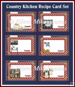 Country Kitchen Recipe Card Set