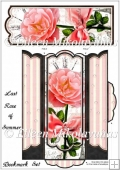 Last Rose of Summer Bookmark Set