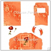 Orange Swirl Decoupage