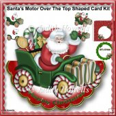 Santas Motor Over The Top Shaped Card Kit