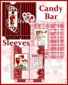 Vintage Valentine Candy Bar Sleeves Set of 3