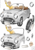 The Cars the Star! Silver Decoupage Sheet