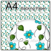 ref1_bp141 - White & Turquoise Flowers