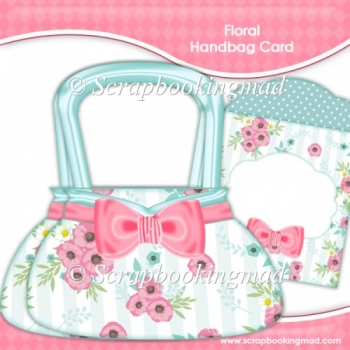 Floral Handbag Card & Envelope Kit