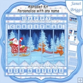 SANTA'S SLEIGH RIDE Christmas 7.5 Quick Card Kit Create Any Name