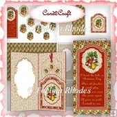 Wallet bookmark card set 11 (Christmas pyramid)