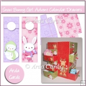 Snow Bunny Girl Advent Calendar Drawers