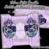Lilac Gifts Double Foldback Card