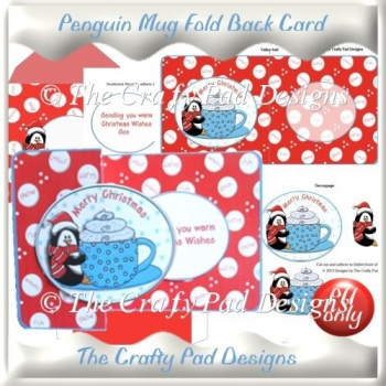 Penguin Mug Fold Back Card