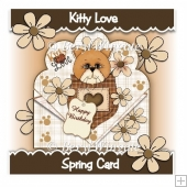 Kitty Love Spring Card