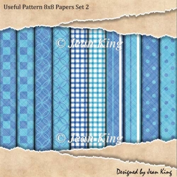 Useful Pattern 8x8 Papers Set 2