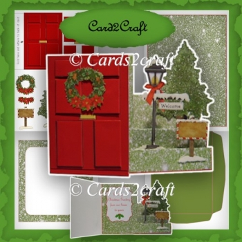 Red door Christmas side stepper