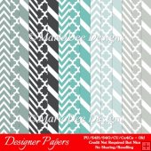 Modern Hues Pkg5 Digital Designer Patterns Scrapbooking Papers