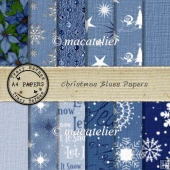 Christmas Blues A4 Papers
