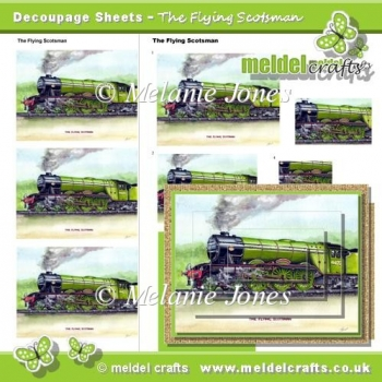 The Flying Scotsman Decoupage Sheets