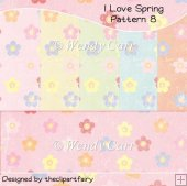 I Love Spring Papers - Pattern 8