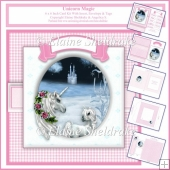 Unicorn Magic Pink - 6 x 6 Inch Card Kit With Insert & Envelope